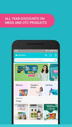 Netmeds - India's Trusted Online Pharmacy App स्क्रीनशॉट 1