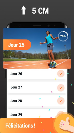 Exercices d'augmentation de taille - Entraînement screenshot 5