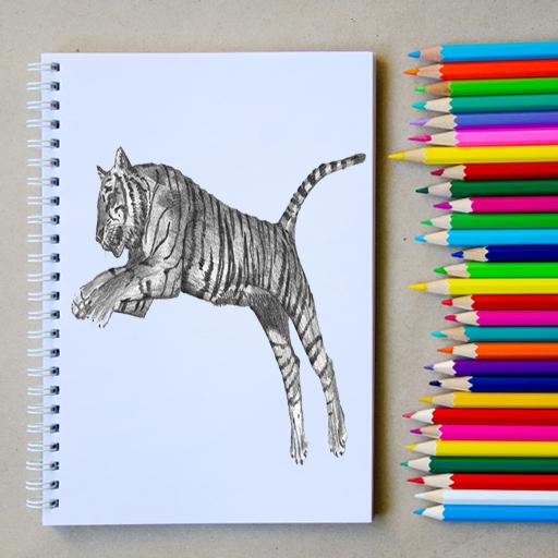كيفية رسم الحيوانات واقعية مع قلم رصاص - مجانا أيقونة