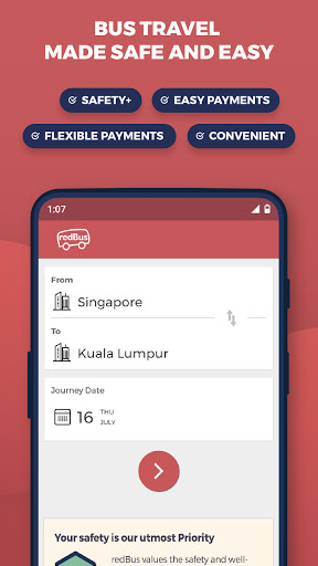 redBus - Online Bus Tickets and Ferry Booking App screenshot 1