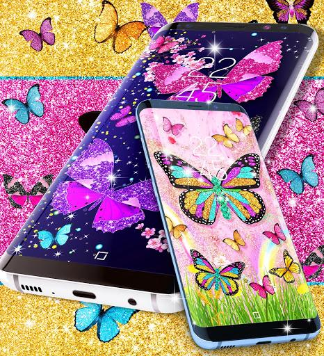 Glitter butterfly live wallpaper 6 تصوير الشاشة