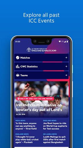 ICC - Live International Cricket Scores & News 6 تصوير الشاشة