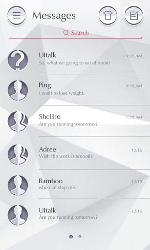(FREE) GO SMS PRO PURE THEME 3 تصوير الشاشة
