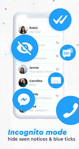 Messenger app, Light All-in-One, Live Free Chat screenshot 2