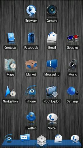 Blue ADW Theme screenshot 1