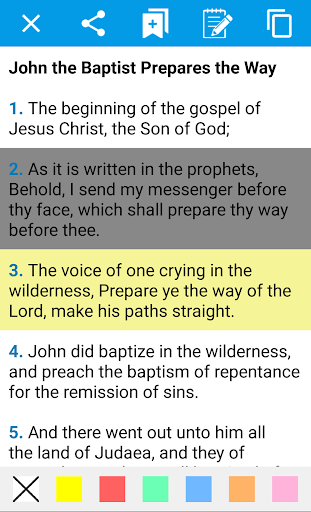 Holy Bible in English for Android screenshot 1