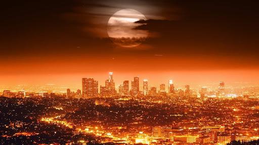المدينة ليلا للجدران لايف 8 تصوير الشاشة