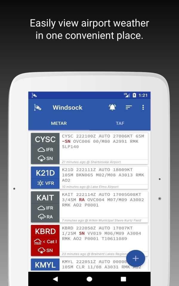 Windsock - Automatic METAR/TAF screenshot 7