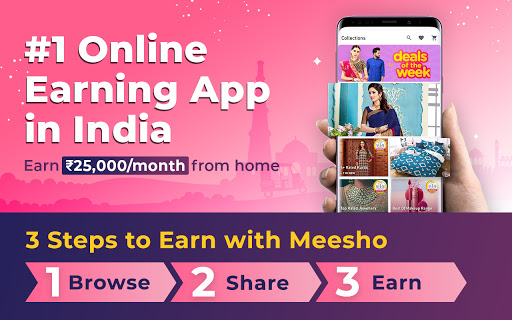 Meesho - Resell, Work From Home, Earn Money Online скриншот 1