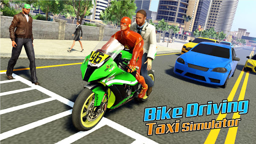 Superhero Bike Taxi Simulator: New Bike Games Free screenshot 2