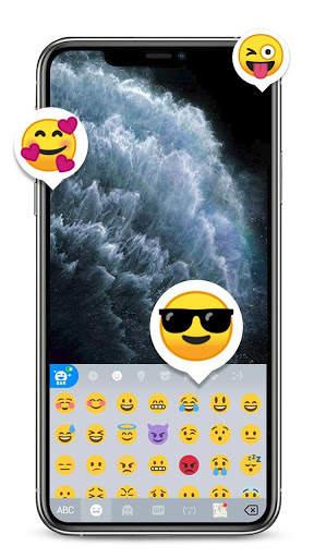 Silver Phone 11 Pro Keyboard Theme screenshot 4