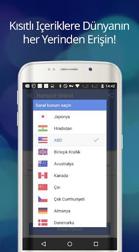 Hotspot Shield Ücretsiz VPN vekil & WiFi Güvenliği screenshot 9