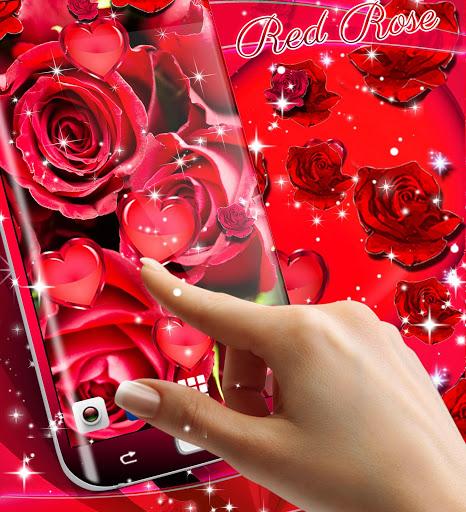 Red rose live wallpaper 7 تصوير الشاشة
