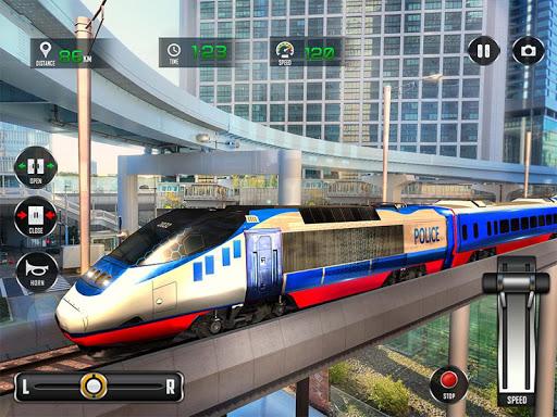 Police Train Shooter Gunship Attack : Train Games screenshot 9