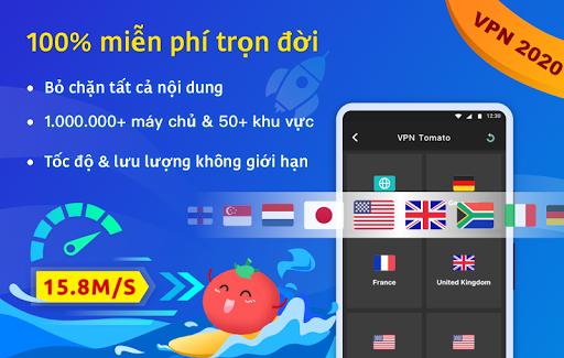 VPN Tomato miễn phí   Điểm truy cập nhanh nhất screenshot 1