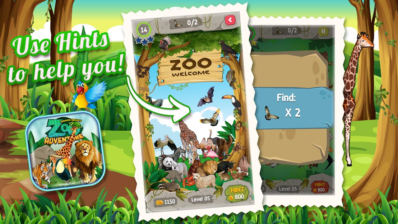 Zoo Adventure Hidden Objects 3 تصوير الشاشة