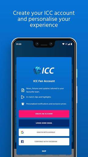 ICC - Live International Cricket Scores & News 7 تصوير الشاشة