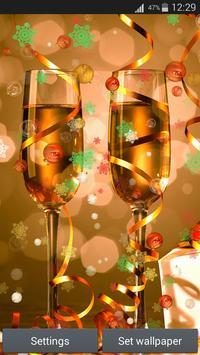 سنة جديدة سعيدة لايف للجدران 5 تصوير الشاشة