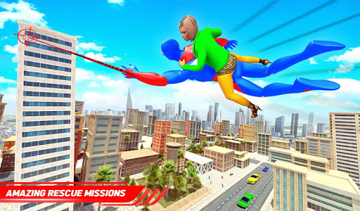 Flying Police Robot Rope Hero: Gangster Crime City screenshot 7