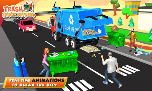 Urban Garbage Truck Driving - Waste Transporter screenshot 4