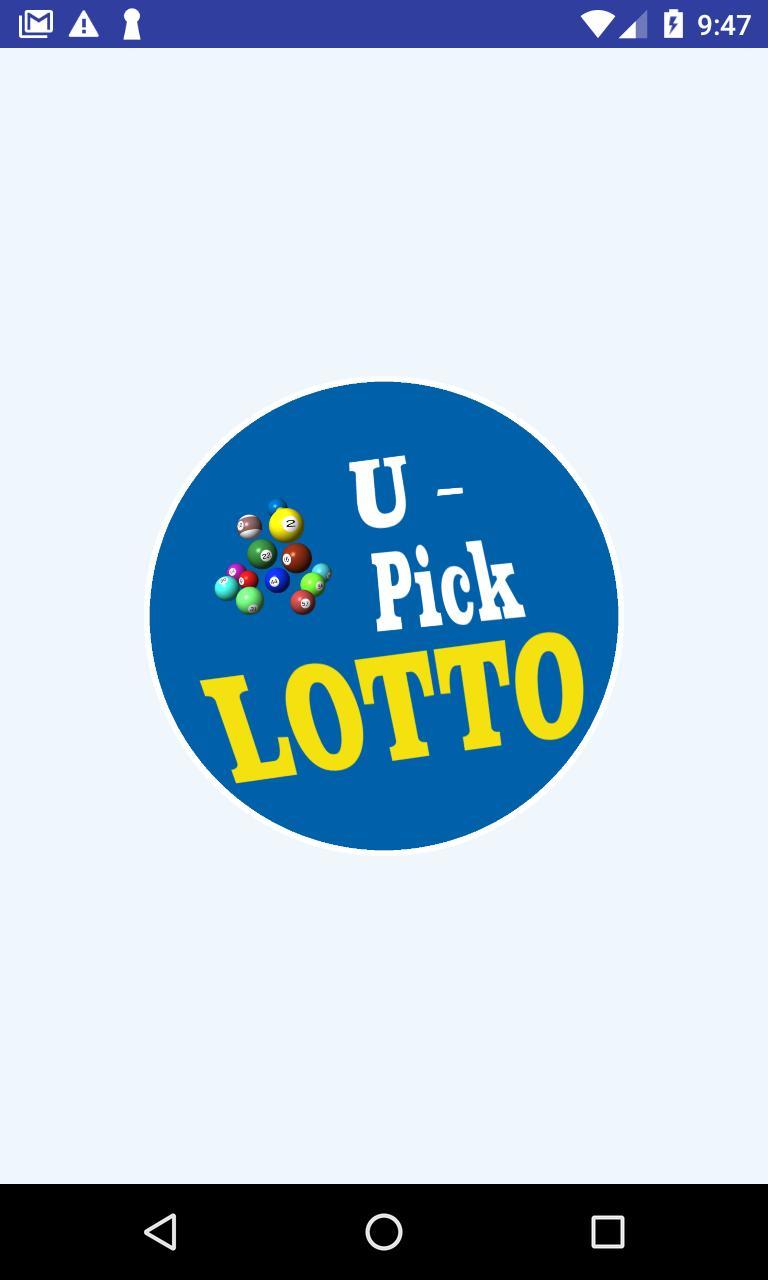 U-Pick Lotto screenshot 1