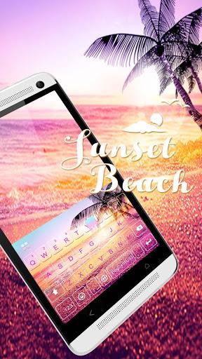 ثيم لوحة المفاتيح Sunsetbeach 1 تصوير الشاشة