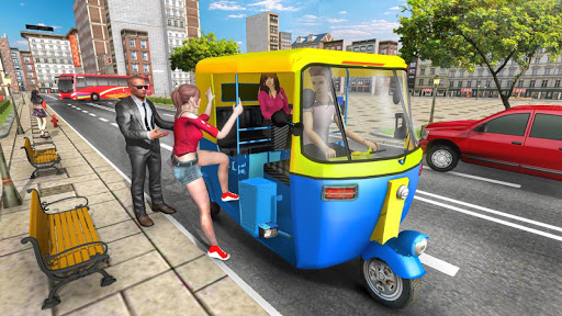 Modern Tuk Tuk Auto Rickshaw: Free Driving Games screenshot 1