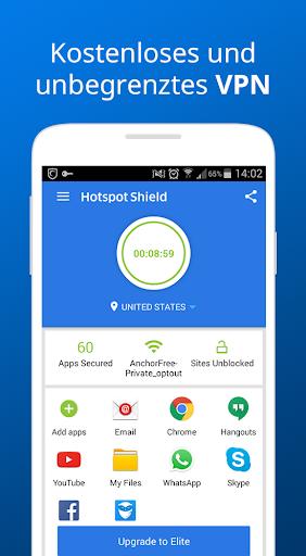 Hotspot Shield Kostenlos VPN Proxy WiFi Sicherheit screenshot 4