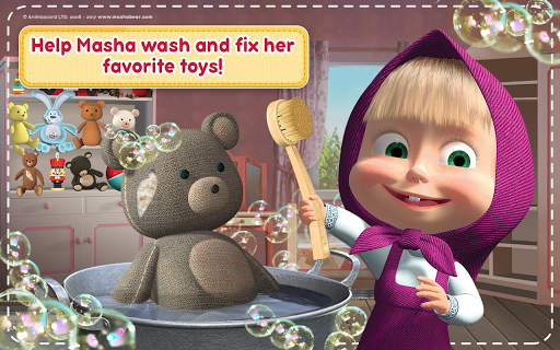 Masha and the Bear: House Cleaning Games for Girls screenshot 14