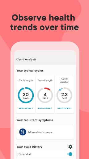 Clue Period Tracker, Cycle & Ovulation Calendar 6 تصوير الشاشة
