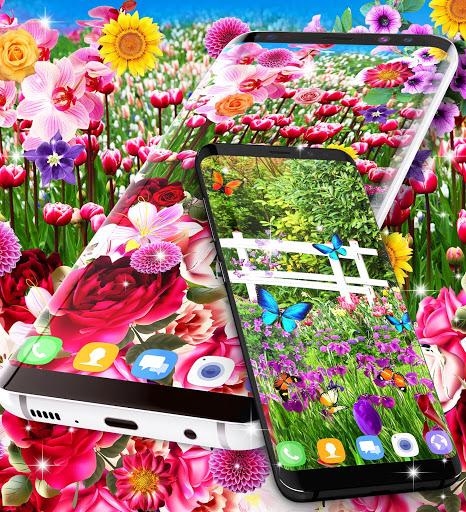 Flower garden live wallpaper 5 تصوير الشاشة