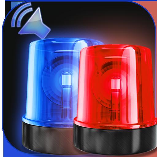 صوت صفارة الشرطة بصوت عال - الشرطة صفارة الإنذار أيقونة