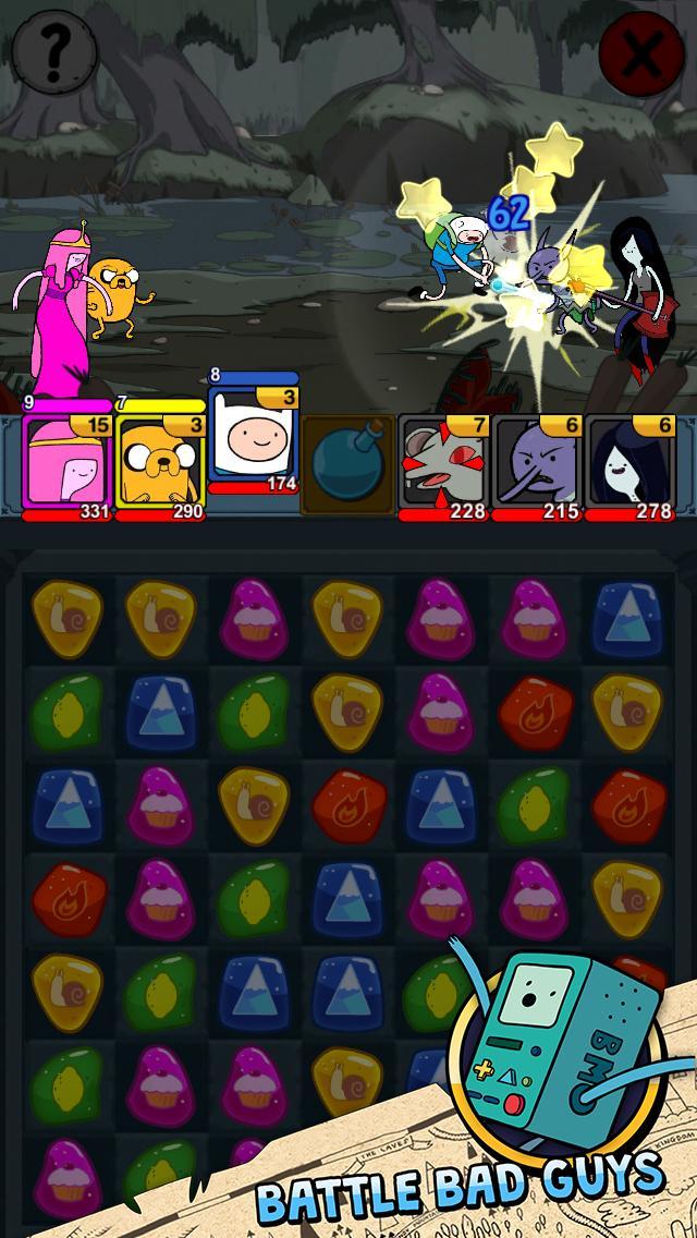Adventure Time Puzzle Quest 2 تصوير الشاشة