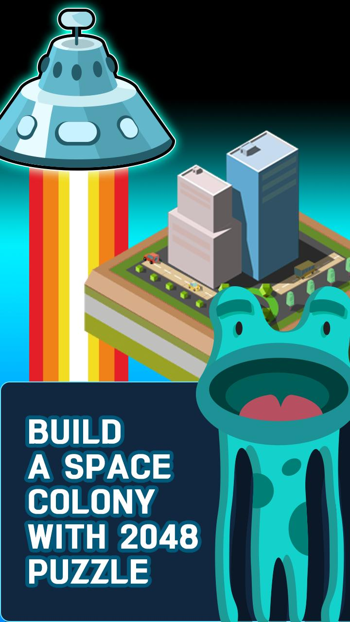 Galaxy of 2048 : Space City Construction Game screenshot 4