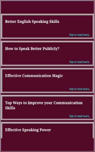 Speaking Skills 11 تصوير الشاشة
