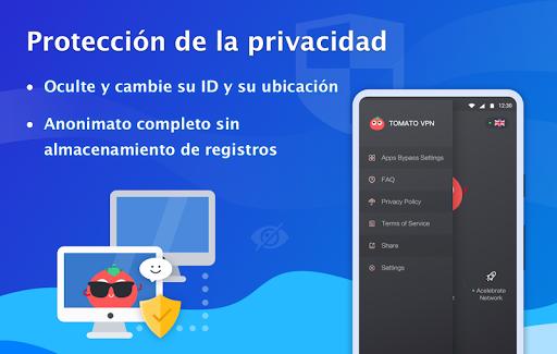 VPN Tomato gratis | Veloz proxy VPN hotspot gratis screenshot 5