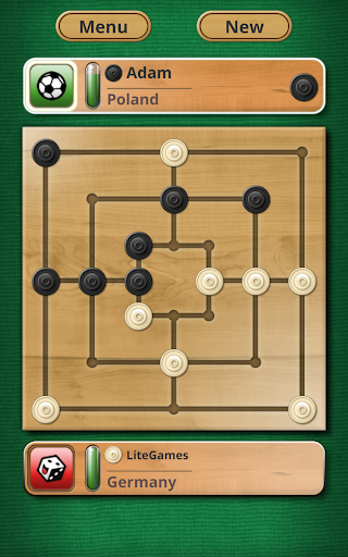 Nine men's Morris - Mills - Free online board game 7 تصوير الشاشة
