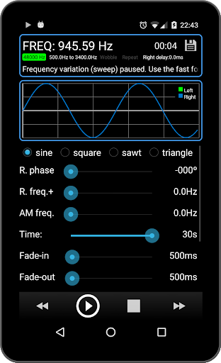 Tone Generator PRO 10 تصوير الشاشة