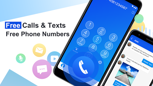 Free phone calls, free texting SMS on free number screenshot 1