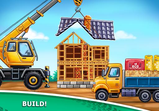 बच्चों के लिए ट्रक गेम - घर की इमारत  कार धोने स्क्रीनशॉट 18