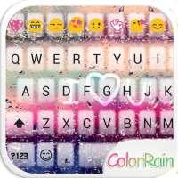 COLOR RAIN Emoji Keyboard Skin on 9Apps