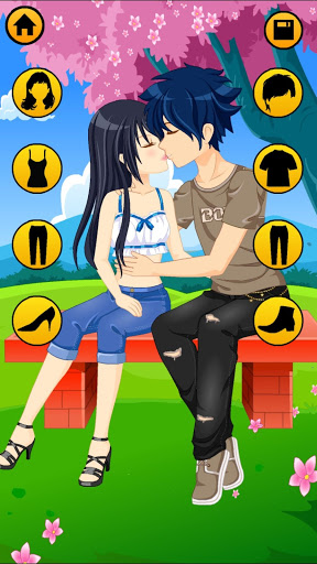 Kissing Dressup For Girls - Cute Couple Makeover 4 تصوير الشاشة