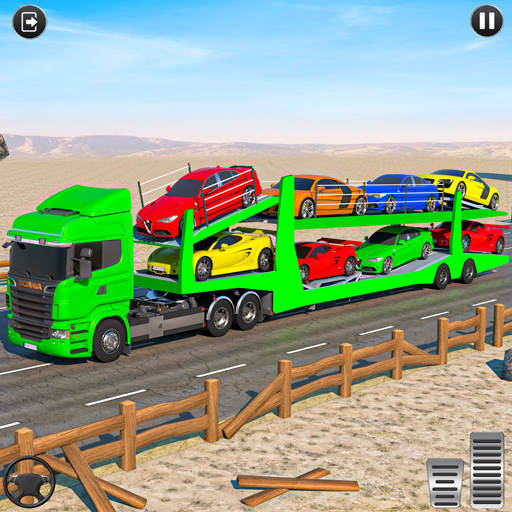 Crazy Car Transport Truck: Offroad Driving Game