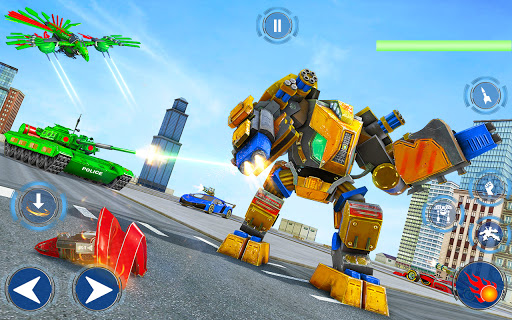 Tank Robot Game 2020 – Police Eagle Robot Car Game screenshot 12