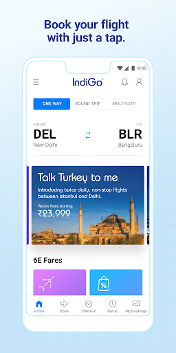 IndiGo-Flight Ticket Booking App screenshot 1