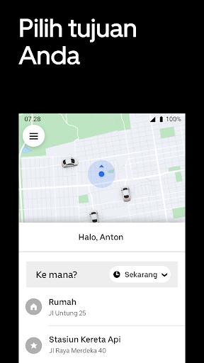 Uber - Pesan perjalanan screenshot 2