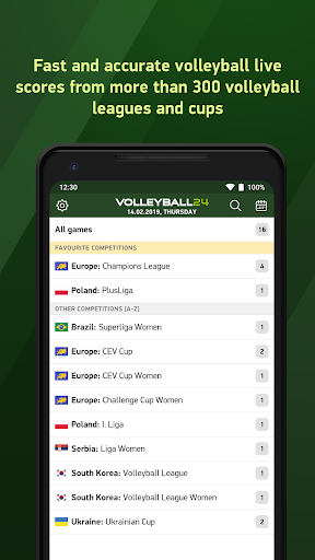 Volleyball 24 - live scores screenshot 1