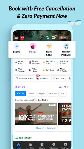 MakeMyTrip Travel Booking: Flights, Hotels, Trains screenshot 1