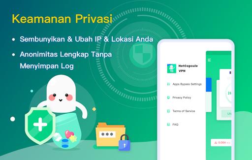 NetCapsule VPN | Proksi Gratis, Cepat, Buka Blokir screenshot 5
