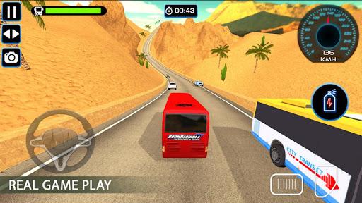 Bus Racing : Coach Bus Simulator 2021 स्क्रीनशॉट 1